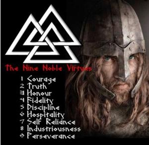 Las nueve nobles virtudes Asátrú