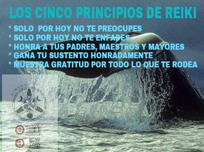 Los cinco principios Reiki