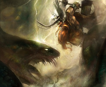 Thor contra la serpiente Midgard